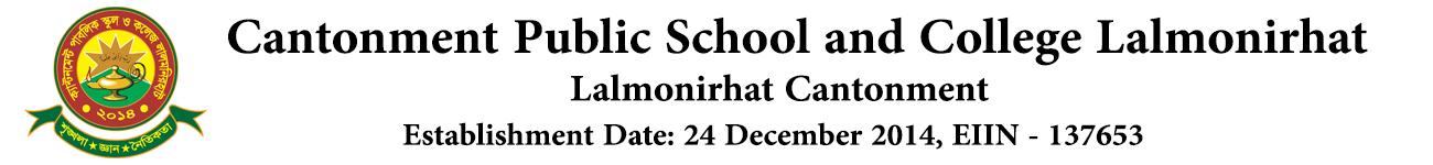 Cantonment Public School & College Lalmonirhat